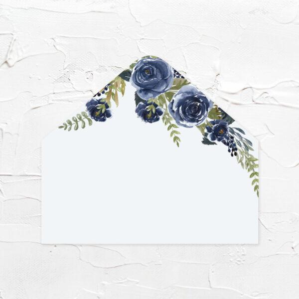 藍色花園-喜帖信封襯紙