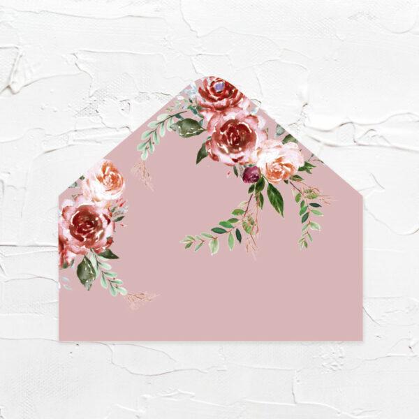 乾燥玫瑰-喜帖信封襯紙