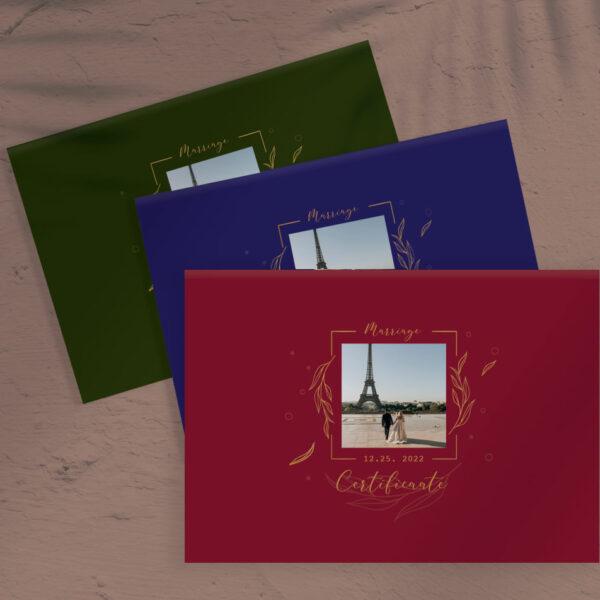 客製化結婚書約-英式學院風3色-婚紗相片款